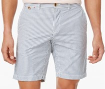 Tommy Hilfiger Mens Brooklyn Striped Shorts, Light Blue/White