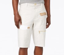 Sean John Men's Poplin Cargo Shorts, Beige