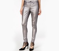 Tinseltown Juniors Metallic Skinny Jeans, Silver