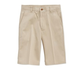 Nautica Boys' Husky Uniform Shorts,Ewo Khaki