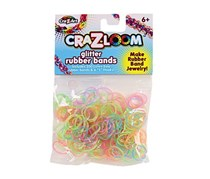 Cra-Z-Loom 200 Count Glitter Rubber Bands