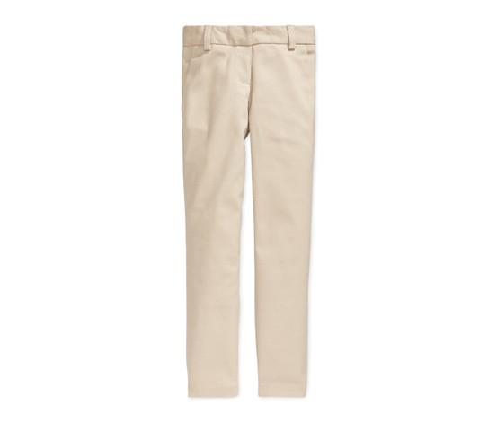 Nautica Girls Stretch Skinny Pants, Khaki