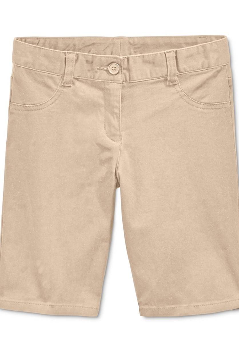Uniform Bermuda Shorts Girls, Khaki