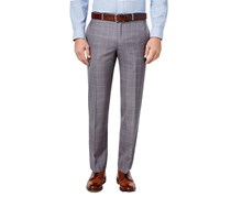 Ralph Lauren Men's Classic-Fit Windowpane Dress Pants, Grey