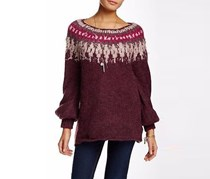 Free People Baltic Fair Isle Sweater, Berry Combo