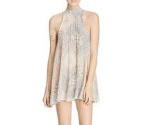 Free People Women's Beaux Printed Slip Dress, Neutral