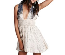 Free People Walking Through Dreams Dress, Ivory Combo