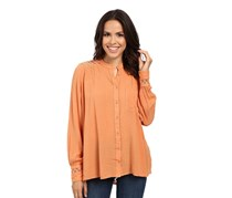 Free People The Best Button Down Shirt, Peach