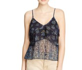 Free People All Things Printed Camisole, Black Multi