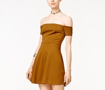 Free People Black Mambo Off-The-Shoulder Dress, Honey