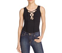 Free People Lace-Up Tank Top, Black