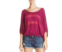 Free People Im Your Baby Cotton Top, Plum