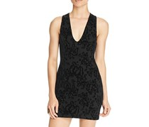 Free People Womens Velvet Bodycon, Dress Black