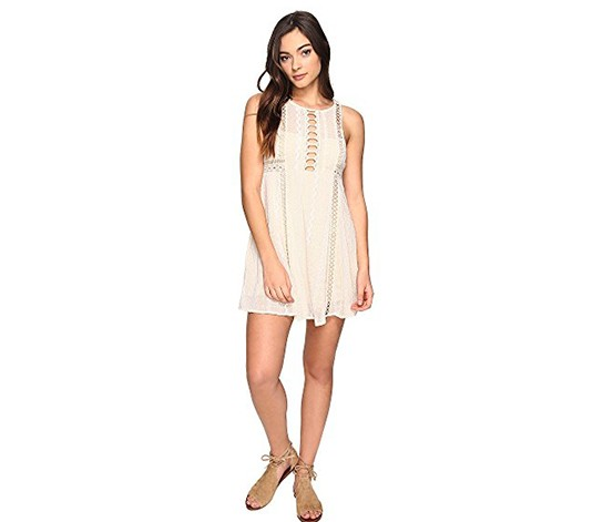 Wherever You Go Mini Dress, Ivory
