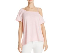 Free People Coraline Cold-Shoulder T-Shirt, Pink
