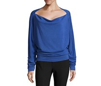 Free People Valencia Slouchy Top, Cobalt
