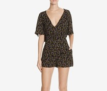 Free People Meet Virginia Printed Romper, Black Combo