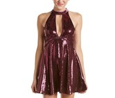 Free People Sequin Cocktail Dress, Plum