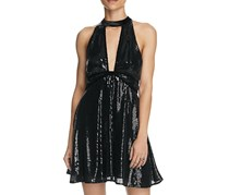 Free People Film Noir Sequin Mini Dress, Black
