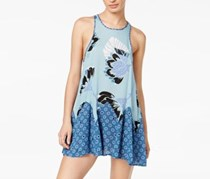 Women Someone Like You Printed Slip Dress, Blue Combo