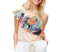 Free People Annka Bubble One-Shoulder Top, Peach