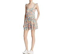 Free People Dear You Mini Dress, Orange/Blue