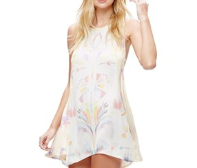 Free People- Dream Free Printed Tunic Dress, Ivory