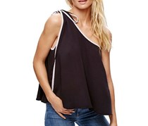 Free People Women One-Shoulder Top, Black