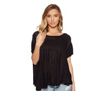 Free People Women's Scoop Neck Top, Black
