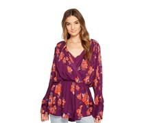 Free People Tuscan Dream Printed Top, Plum