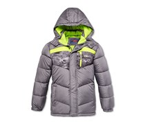 Cb Sports Toddler Boys' Colorblocked Puffer Jacket, Grey
