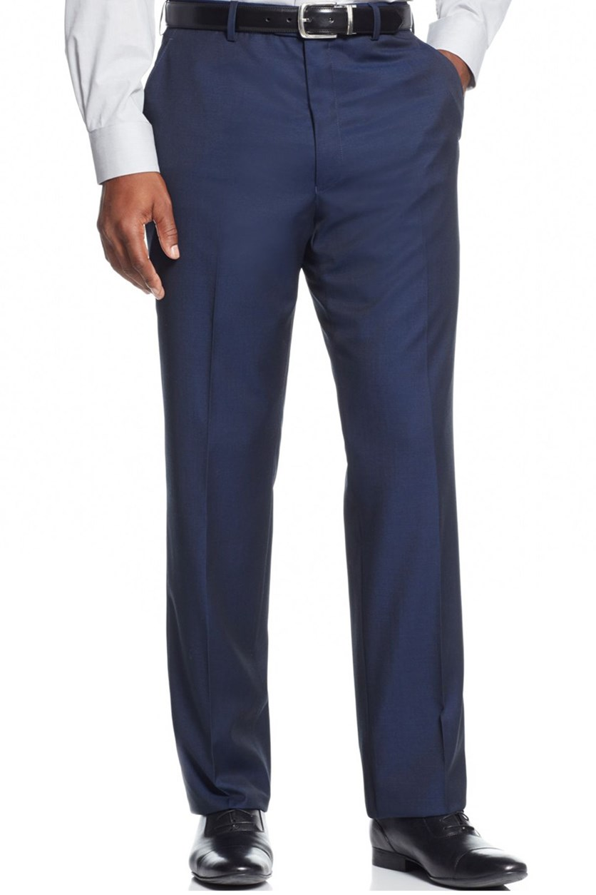 Big and Tall Solid Classic-Fit Pants, Navy