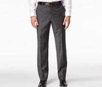 Shaquille ONeal Collection Mens Big Tall Classic-Fit, Charcoal Windowpane