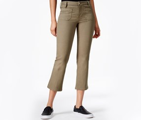 Sanctuary Cropped Flared Poppy Wash Jean, Cactus