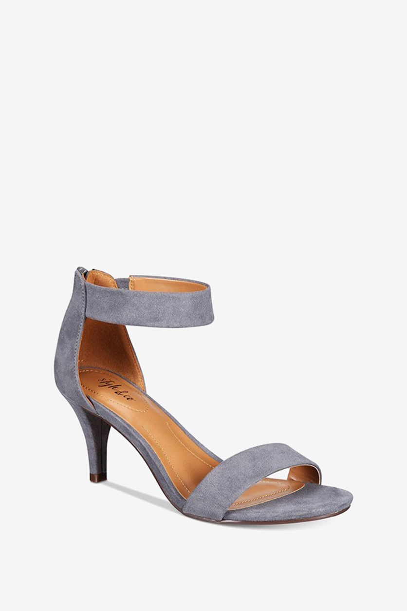 Paycee Two-Piece Dress Sandals, Iron