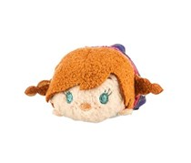 Disney Tsum Tsum Frozen Anna Plush Toy, Tan/Pruple Combo