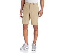 PGA Tour Men's Comfort Stretch Flat Front Short, Silver Mink