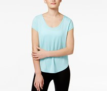 Calvin Klein Performance Space-Dyed Strappy-Back T-Shirt, Jamaica Blue