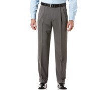 Perry Ellis Melange Pleated Dress Pants, Grey Heather