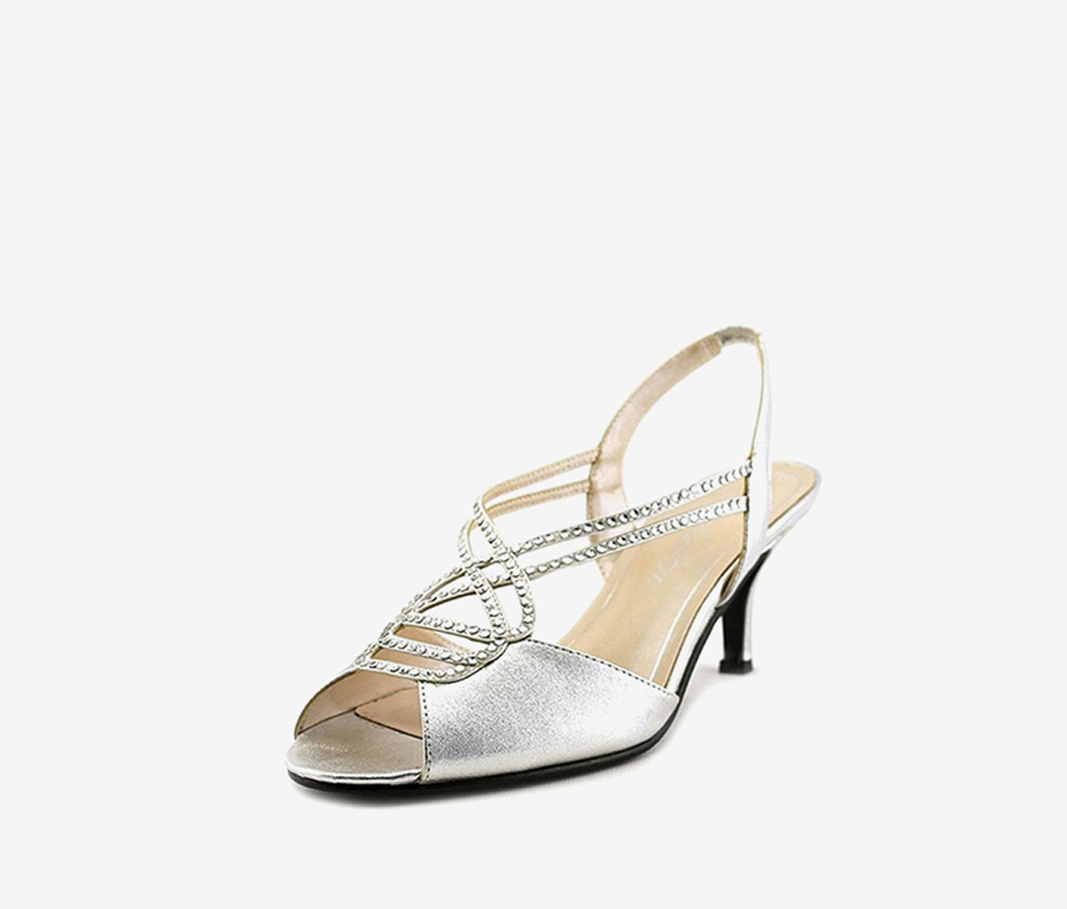 Caparros Philomena Evening Sandals, Silver Metallic