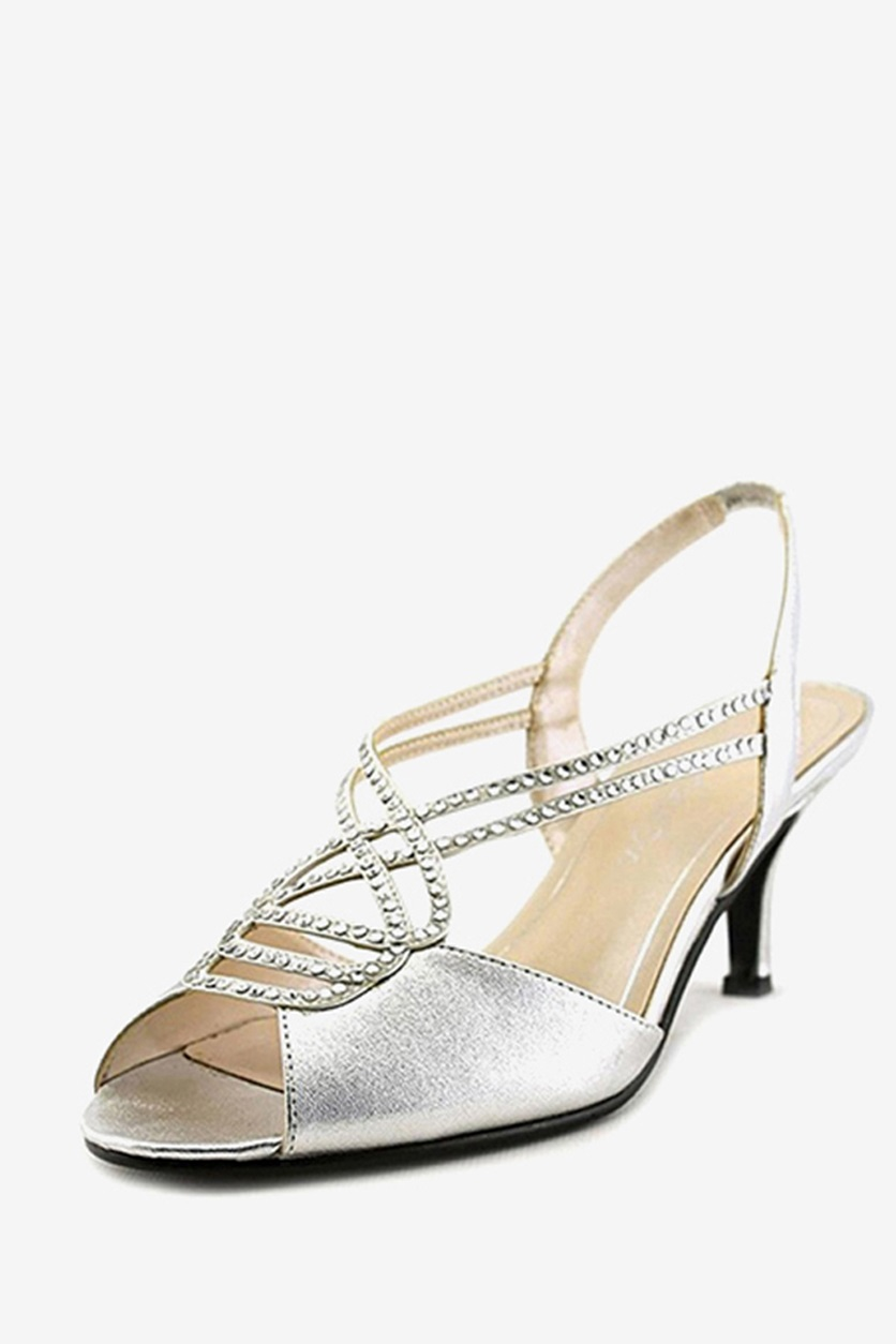Shop Caparros Caparros Philomena Evening Sandals Silver Metallic