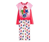 Pj Masks Toddler Girls Caped Pajama Set, Pink/Red