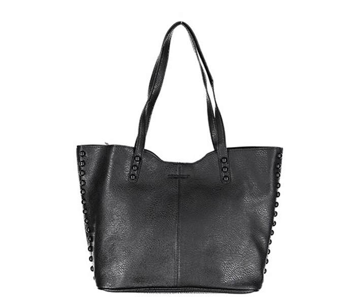 Women's Tote With Studs, Black