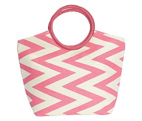 Magid Zigzag Ring Tote,Hot Pink