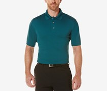 Pga Tour Men's Mesh Golf Polo, Atlantic Deep