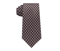 Sean John Men's Geometric Neck Tie, Brown