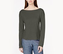 Eileen Fisher Long-Sleeve Boat-Neck Top, Oregano