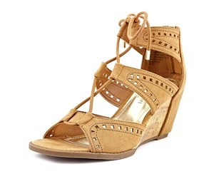 Madden Girl Rally Perforated Wedge Sandals, Chestnut