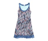Signature by Robbie Bee Womens Plus Size Fit & Flare Printed Dress, Blue