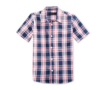 Ring of Fire Boys Plaid Shirt, Navy Blue